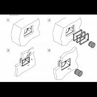 Podometna vtičnica z kolenom / SistemAir