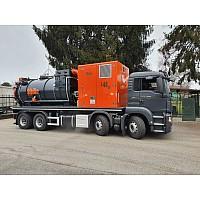 INTERVENCIJA urni najem ATEX mobilne sesalne enote SIBILA S40 / 10m3 / Kamion